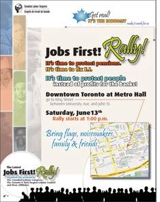 Jobs first Poster-Toronto