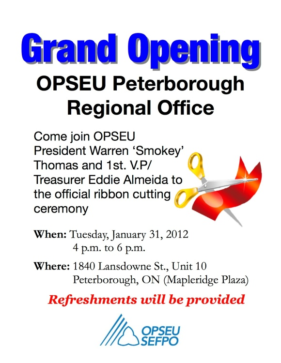 Grand Opening of Peterborough Regional Office